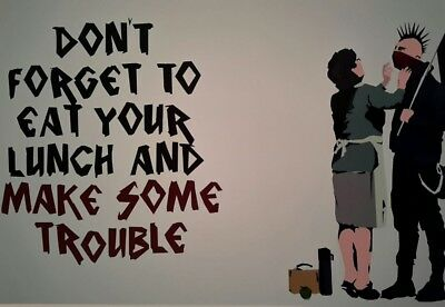 "BANKSY BANKSEY DON'T FORGET TO... 7x5"" PICTURE PRINT WALL ART"