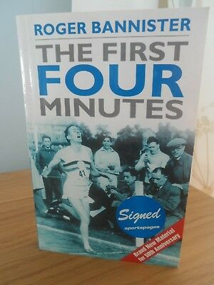 Sir Roger Bannister Signed Book 'The First Four Minutes'(Paperback, 1980)
