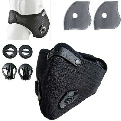 Riding Hiking Respirator Half Face Mask Cover Anti Dust Carbon Air Purifying