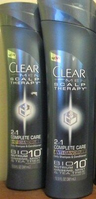 (2) Clear Men Scalp Therapy 2in1 Complete Care Anti-Dandruff Shampoo+Conditioner