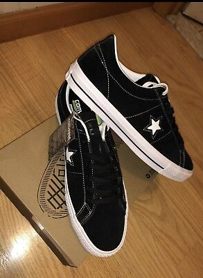 bdef45594f83ee Converse ONE STAR SKATE OX BLACK SUEDE   WHITE Size 11 - 149908C  SKATEBOARDING