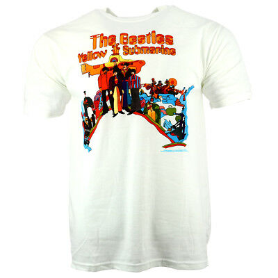 The Beatles Yellow Submarine Men's T-shirt White Official Licensed Music