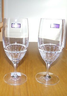 Marquis by Waterford Crystal Addison Iced Beverage Glasses Set of 2 New in Box