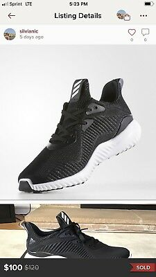 c858d30a4 Womens Adidas Alphabounce Beyond Running Shoes Size 8.5 Black White AC8633