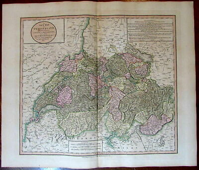 Switzerland Cantons Dependencies Grisons 1811 John Cary lovely large old map