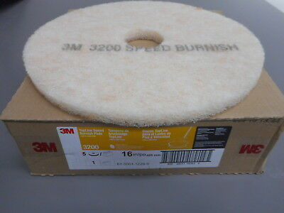 """16""""  Floor Scrubber Pads Case of 5 3M 3200 Light Cleaning Buffing TopLine"""