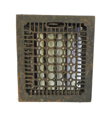 Antique Cast Iron Heating Grate Vent Register Honeycomb Design 13.75 X 11.75
