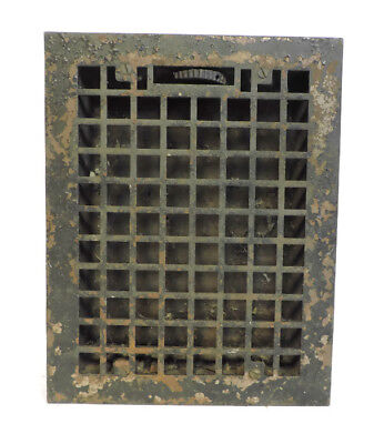 Antique Heavy Cast Iron Heating Grate Vent Register 13.75 X 10.75