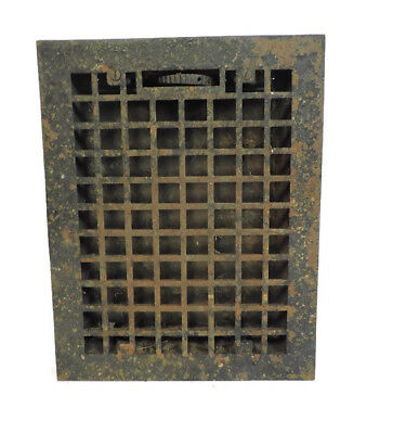 ANTIQUE HEAVY CAST IRON HEATING GRATE VENT REGISTER 13.75 X 10.75   z