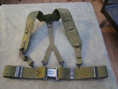 USMC US Army LC-2 ALICE Equipment Belt  - Size Medium - used - Gray Buckle