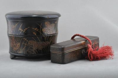 Two Fine Lacquer Boxes. Japan. 19th Century, Meiji Pd.