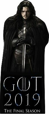 "Jon Snow Game of Thrones 68"" tall Lifesize CARDBOARD CUTOUT Standee"