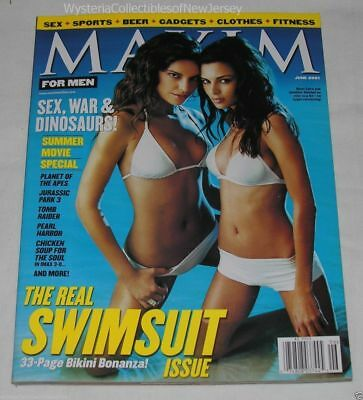 MAXIM Magazine June 2001 The Real Swimsuit Issue Saira Mohan Jennifer Lamiraqui