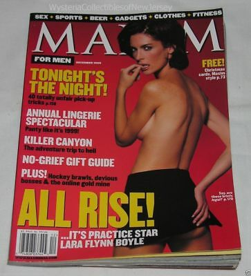 MAXIM Magazine December 1999 SUPER SEXY LARA FLYNN BOLYE 254 Pages