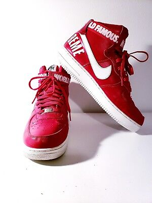 NIKE AIR FORCE 1 HIGH SUPREME SP World Famous RED SIZE 11. 698696 610