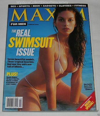 MAXIM Magazine February 2000 The Real Swimsuit Issue Kim Smith 178 Pages