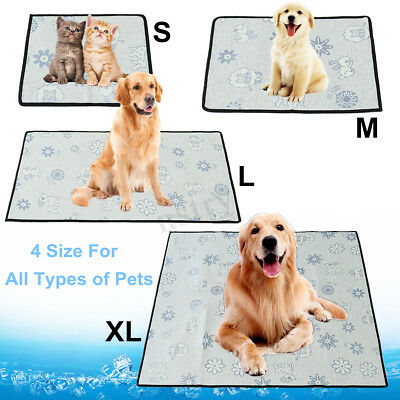 DOG&CAT Pet Cooling Mat Puppy Chill Heat Relief Cushion Gel Pad Seat Summer