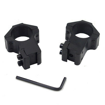 1 Pair 25.4mm Rifle Tactical High Profile Scope Ring Weaver/Picatinny Rail Mount