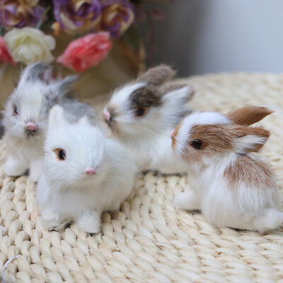 Lovely Soft Simulation Rabbit Animal Doll Plush Stuffed Toy Kids Gift Home Decor