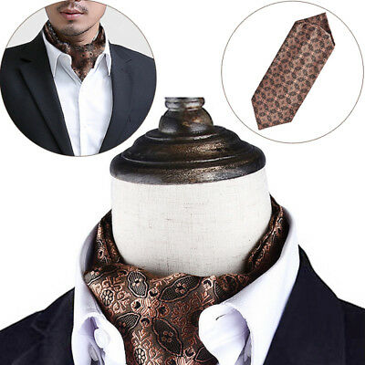 Fashion Men Silk Cravat Scarves Paisley Ascot Wedding Party Self-tied Ties sdf