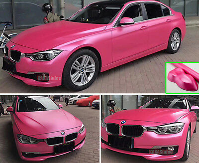 Newest Car Pearl Metal Satin Matte Chrome Vinyl Wrap Sticker Decal Pink - AB