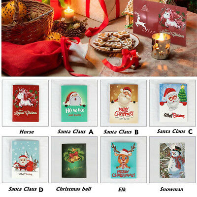 5D DIY Christmas Diamond Painting Xmas Greeting Card Cross Stitch Embroidery Hot