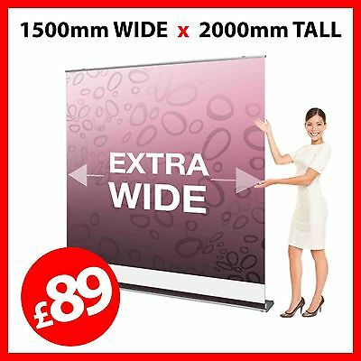 SALE 1500mm wide Pull Up Banner / Pop Up / Roller Exhibition Stand - Trade Show