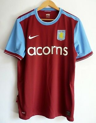 0144938128 Aston Villa England 2009 2010 Home Football Shirt Jersey Camiseta Nike L  Adult