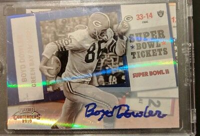 Boyd Dowler Auto 2010 Playoff contenders Autograph Packers