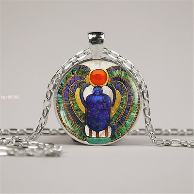 400pcs Glass Egyptian Scarab pendant, ancient egypt jewelry, Egypt necklace,