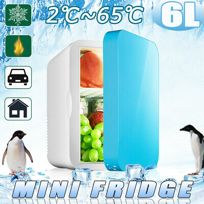 AU 6L Car Home Dual Use Mini Fridge Travel Refrigerator Cooler Freezer Camping