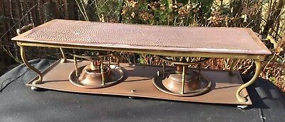 Henry Loveridge Antique Copper And Brass Chafing Tray Food Warmer Rd.412398 1904