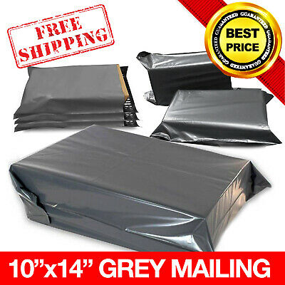 """100x GREY STRONG MAILING MIXED PLASTIC POSTAL MAIL BAGS 10""""x14"""" *OFFER*"""