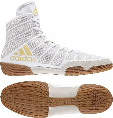 Adidas Varner Wrestling Boots Mens Womens White Brown Boxing Shoes Gym Trainers