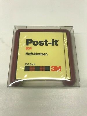 Portapost-it abs HELIT 63048 rosso nuovo x post 654 76x76 Vintage Modernariato