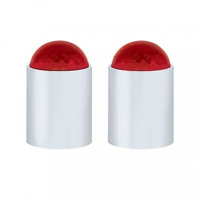 """bumper guide top(2) dome style red plastic fits 1"""" threaded pipe replacement"""