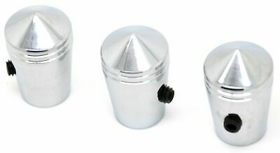 "toggle switch extensions(3) 1"" round pointed chrome for Kenworth round switch"