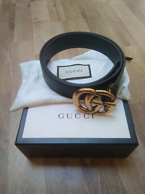 3cbbb7f92e6 GUCCI GG BUCKLE Leather Belt 80 90 Both Available - £200.00 ...