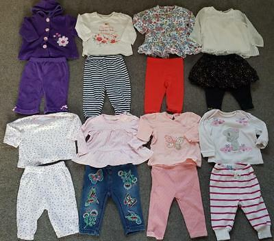 Baby Girls Clothes Bundle  2 Piece Long Sleeved Outfits  X 8  3-6 Months  #1