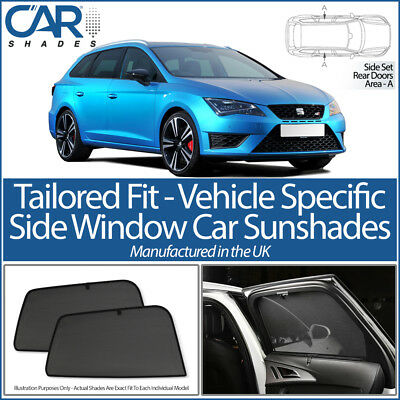 Seat Leon ST Estate 12> CAR SHADES UK TAILORED UV SIDE WINDOW SUN BLINDS PRIVACY