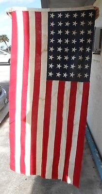 Large Betsy Ross Bunting Sewn 48 Star American Flag USA 3.6' by 6.8'