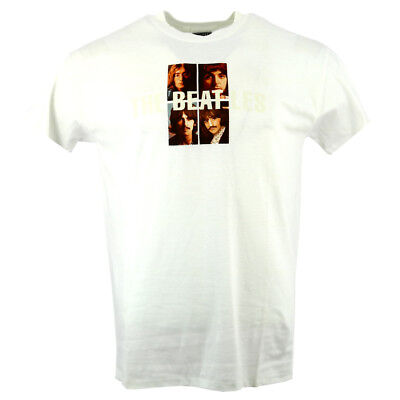 The Beatles Fab Four Printed Image Men's T-shirt White Official Licensed Music