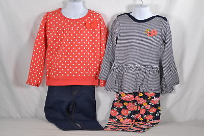 Toddler Girl's Simple Joy's by Carters 4-Piece Shirt and Pant Set in Red Dot