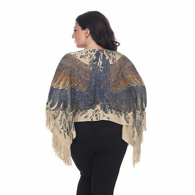 Trendy Plus Size Poncho Top Angel Eagle Wings One Size Queen will fit 1X 2X 3X