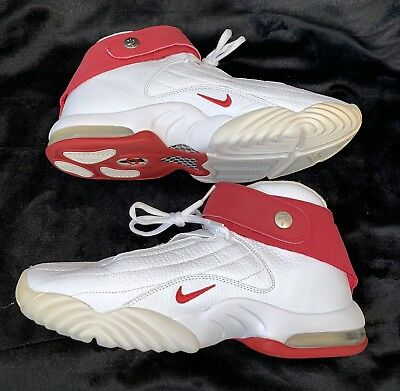 best service 20edc 64c4e Nike Air Penny Iv 4 White Red Shoes Size 11 312455-161 Mint Condition
