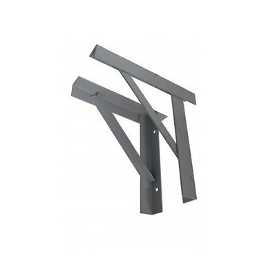 Steel Gallows Brackets Chimney Supports - Pair red oxide primer