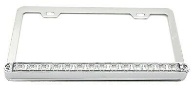UP License Plate Frame Chrome 14 Red LEDs Clear Lens 2 Hole Mount 3 Wire #39746
