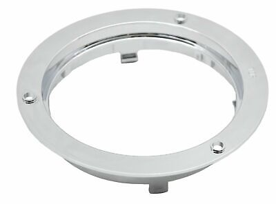 "light mounting bezel 4"" plain chrome plastic for Peterbilt Freightliner Kenworth"