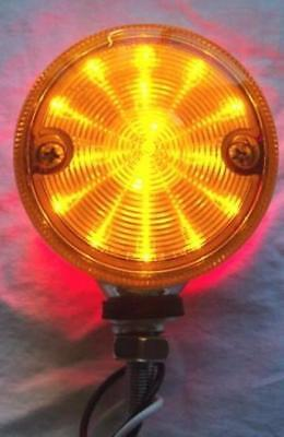 """LED light 3"""" double faced amber red lens 15 diodes for Peterbitl Kenworth FL"""