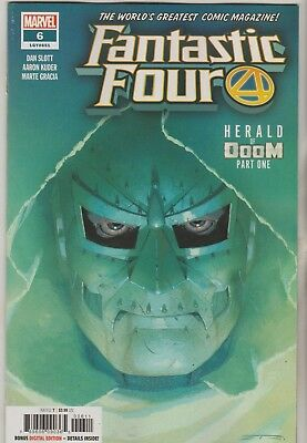 Marvel Comics Fantastic Four #6 March 2019 1St Print Nm